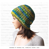 Susannah Beanie Crochet Pattern. Rhondda Mol. Oombawka Design Crochet.