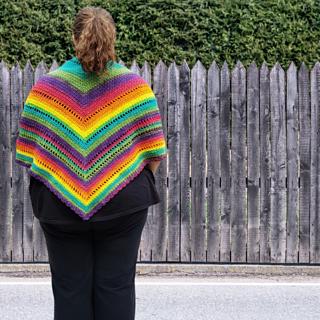Brighter Days Ahead - Rainbow Shawl Scarf - Rhondda Mol