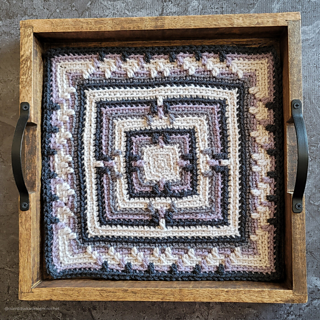 Hidden Sanctuary Afghan Square Pattern. Designed by Rhondda Mol.