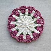 Small Spring Mandala Crochet Pattern @oombawkadesigncrochet