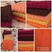 Colorful Fall Washcloths pattern