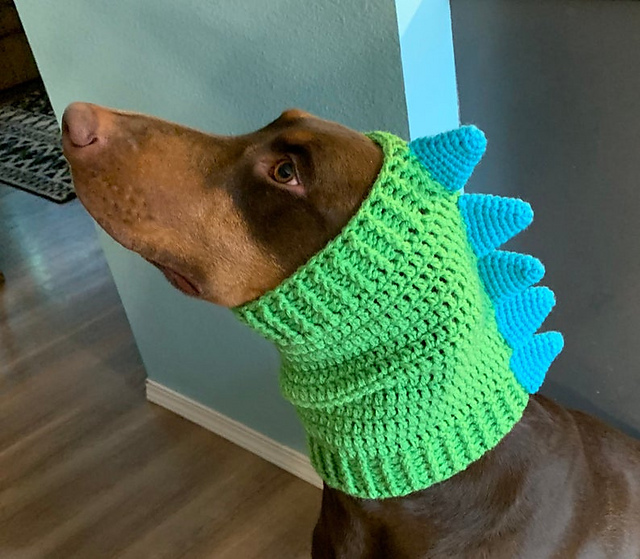 Dinosaur Cowl for Dogs