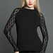 KK646 Black Top with Lacy Sleeves pattern