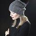 KK 686 Slouchy Bulky Ribbed Hat with Pompom pattern