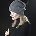 KK 686 Slouchy Bulky Ribbed Hat with Pompom pattern