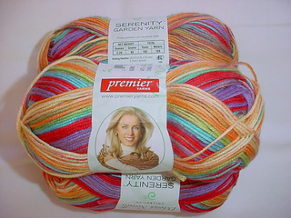 lot of 2 Hibiscus 185 yds each Premier Serenity Garden yarn