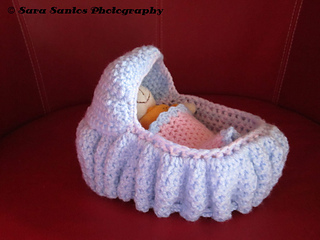 Free Crochet Pattern for Baby Doll Crib Bassinet | 240x320