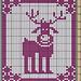 Potholder Reindeer Rudolph pattern