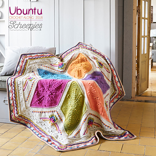 Ubuntu blanket - Large, made with Scheepjes Stone Washed XL and Scheepjes River Washed XL