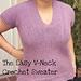 Easy V-neck Sweater pattern