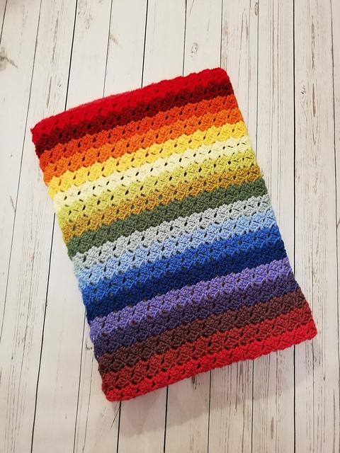 C2C Crochet Twister pattern for adult blanket