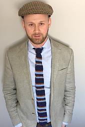 Men's Striped Tie Crochet Pattern