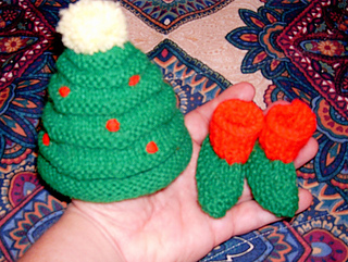 Christmas Hat and Booties
