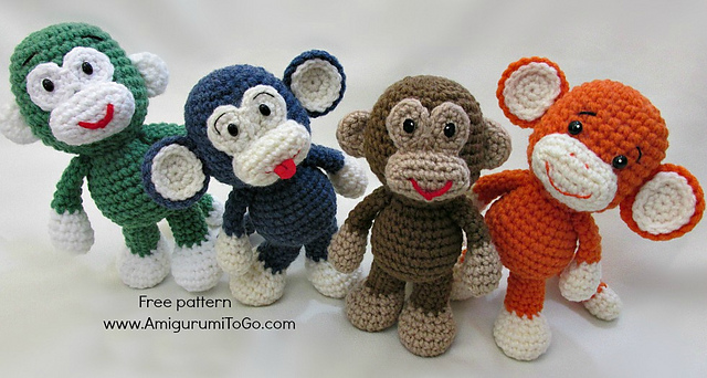 FREE Knitted Monkey Pattern | Deramores | Monkey pattern, Knitted ... | 342x640