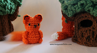 Cute Crochet Pocket Fox - Free Pattern (mit Bildern) | Fuchs ... | 174x320