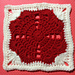 Be My Valentine Square pattern
