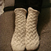 Rippled Cable Slouch Socks pattern