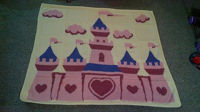 Pink Princess Castle Blanket Pattern By Shoedivaoriginals