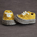 Classic baby sneakers pattern