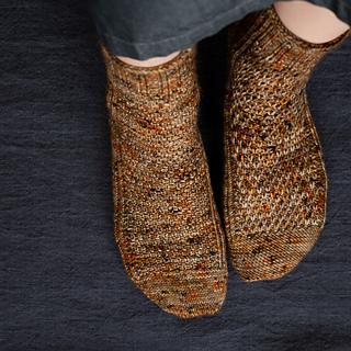 Left sock: Right Side, Right sock: Wrong Side