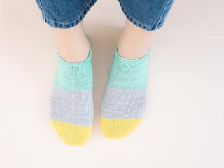 Secret Rib + Stockinette stitch +Easy Toe