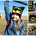 Graphed Beanie - The Bat pattern