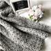 Wattle Stitch Throw Blanket pattern