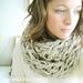 Arm Knit Infinity Scarf pattern
