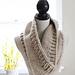 Chunky Tri-Style Knit Cowl pattern