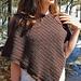 Steff Herringbone Poncho pattern