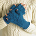 Banjo Cable Fingerless Gloves pattern