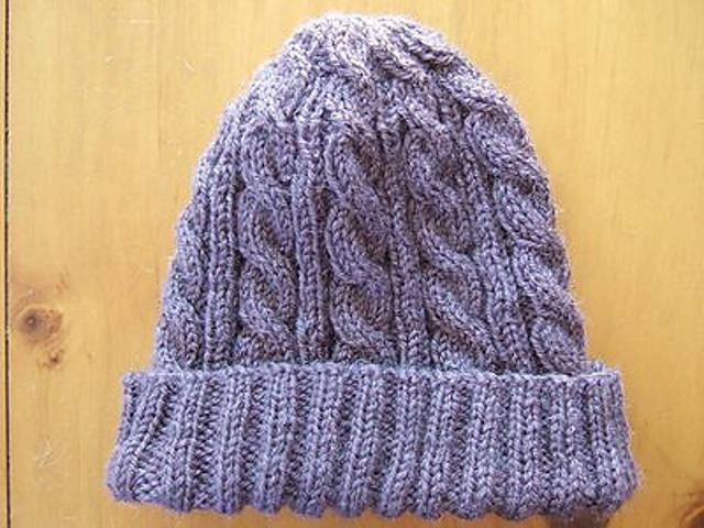 Brown Aran Hat Unisex Aran Cable Hat Brown Hat Mens Aran Hat Brown Cabled Hat Womens Aran Hat Teens Aran Hat Hand Knitted Hat