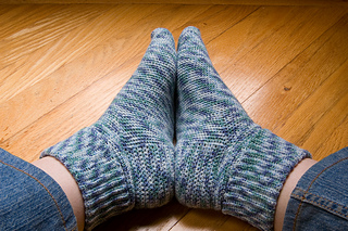 Basic crocheted socks - complete