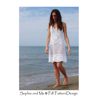 """Florence granny square Dress. """"First Flower of the year Square"""" is used in this dress."""
