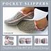 Ribbed Slipper Pocket Socks pattern
