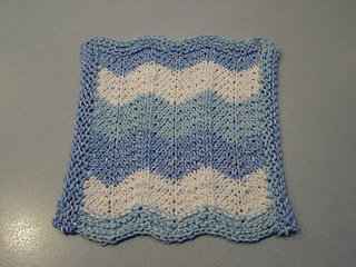 Sharon's wavy dishcloth pattern
