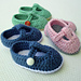T-Strap Mary Janes Baby Booties pattern
