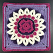 """Audrey 12"""" Afghan Square pattern"""