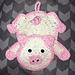 Crocheted Pig Pot Holder pattern