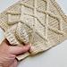 Lattice Cable Washcloth pattern