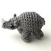 Tiny/Mini Rhino Amigurumi/Plush Toy pattern