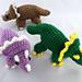 Miniature Triceratops Amigurumi/Plush Toy pattern