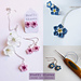 tiny forget me not cherry blossom jewelry pattern
