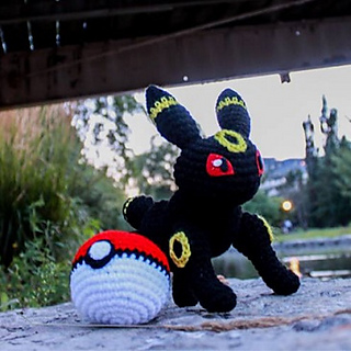 Umbreon Amigurumi Pokemon Plush Cute Kawaii: Amazon.co.uk: Handmade | 320x320