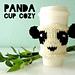 Panda cup cozy pattern