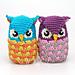 Seamless Owl Amigurumi pattern