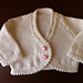Design G - Picot-edged Baby Cardigan, Hat, Bootees pattern