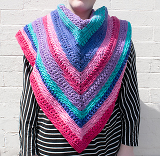 Paige's Triangle Shawl pattern by Sunflower Cottage Crochet