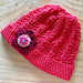 Baby Girl Crochet Hat with Flower pattern