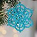 Winter Flower Snowflake pattern